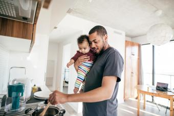 Cooking time with daddy
