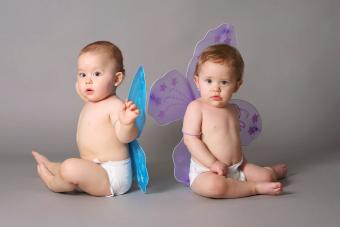 Babies with butterfly wings