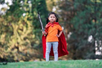 Wonder Girl Holding a Sword