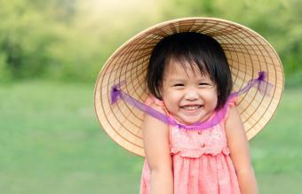 Girl smiling in hat