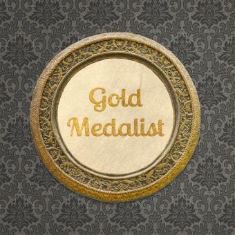 Gold Metal Circular Picture Frame
