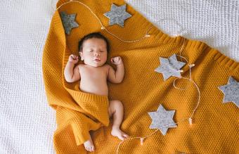 Cute newborn sleeping baby