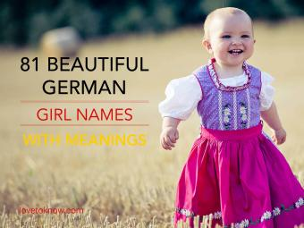 Beautiful German Girl Names With Meanings