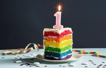 rainbow cake 1st brithday