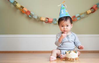 baby celebrating his First Birthday