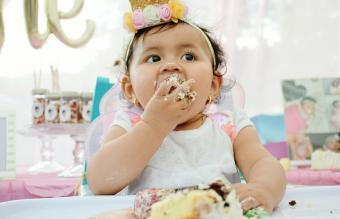 Cute Girl Eating