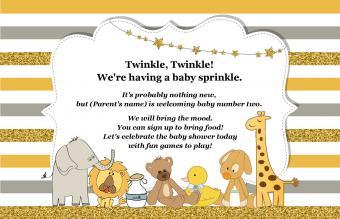 baby shower invitation twinkle twinkle