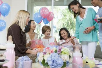 Baby Shower with mother-to-be and friends