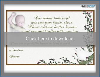 Baptism invitation 5