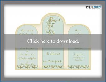 Baptism invitation 3