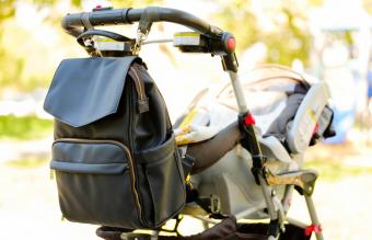 baby stroller with a diaper bag
