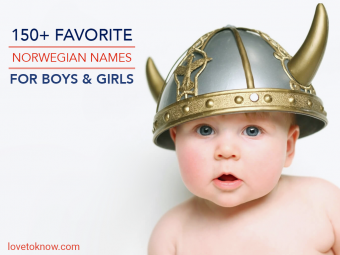 Baby with a viking helmet