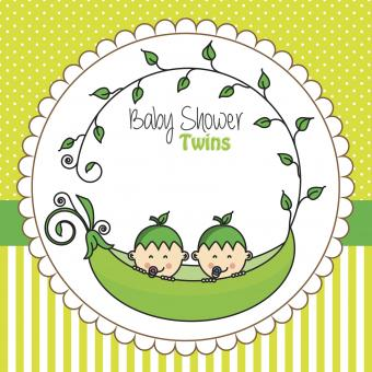 Babies inside a pea peel