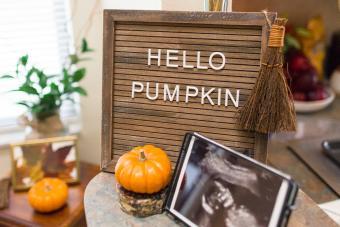 """""""Hello Pumpkin"""" Fall Pregnancy Announcement"""