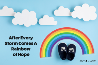 Cute newborn baby boy shoes with rainbow