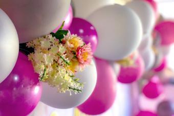 Flowers On Balloon Decoration