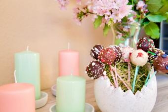 Candles and lolipops