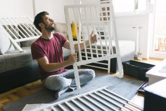 Preparing the crib for baby