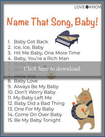 Name that song printable