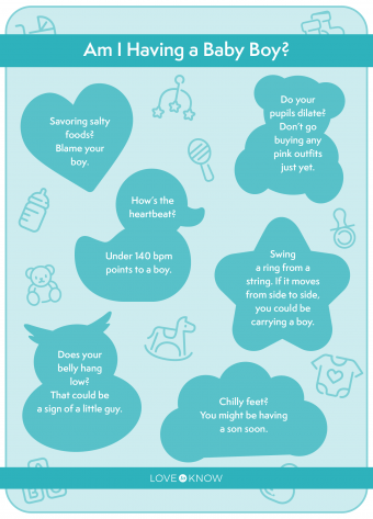 Signs of baby boy infographic