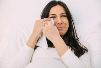 Pregnant women crying