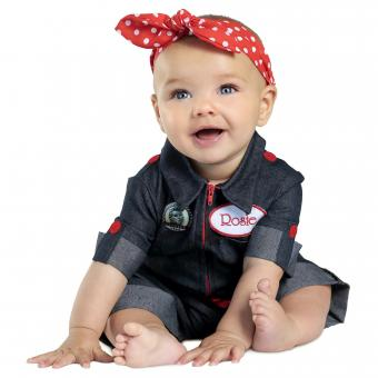 Rosie the Riveter Costume For baby