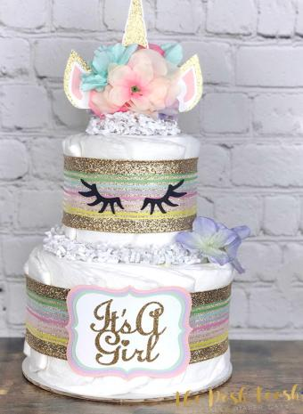 Unicorn Diaper Cake