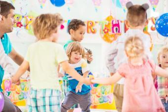 Playful children dancing