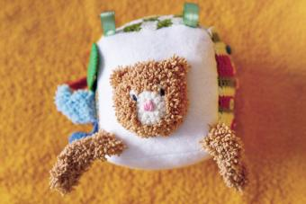 Colorful handmade block toy for babies