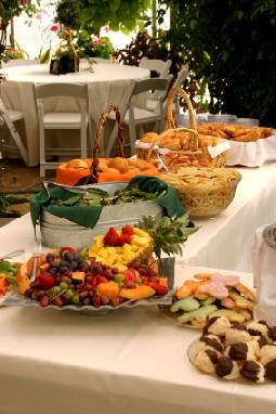 Image of a baby shower buffet table