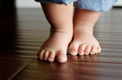 image of a toddler's feet