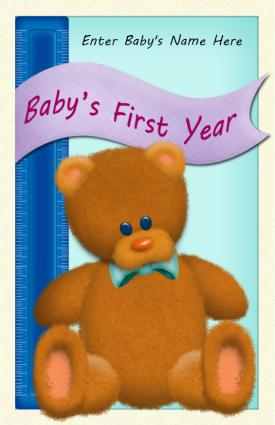 Printable baby memory book