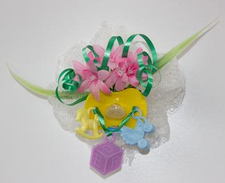 pacifier baby shower corsage