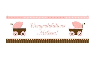 Baby Carriage Girl Banner from InkGarden