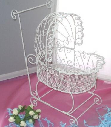 Lacy wire baby carriage