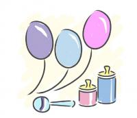 baby balloons clip art