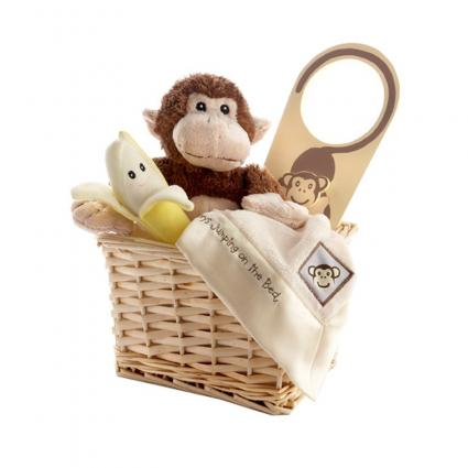 Baby Aspen Monkey Gift Set with Basket from Amazon.com