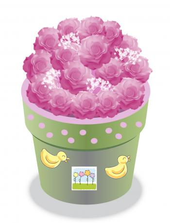 Baby shower rose topiary
