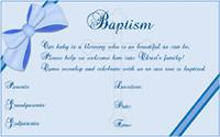 Baptism invitation 2