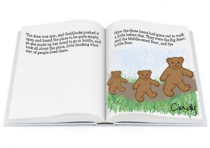 baby shower story sign in book