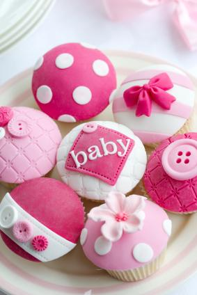 Baby shower cupcakes pink