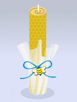 Honey bee candles baby shower favor