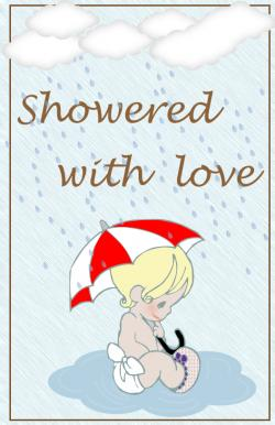 rain showers card - Baby Shower Cards