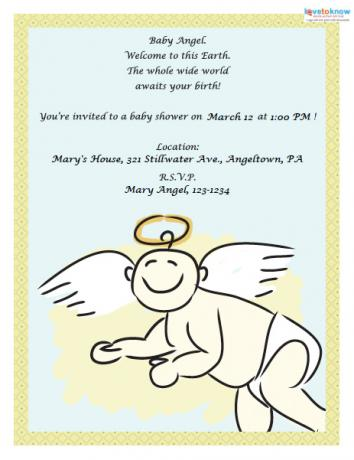 Baby Shower Invite Angel Baby