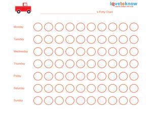 Free truck potty training chart.