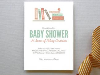 Book It Baby Shower Invitation