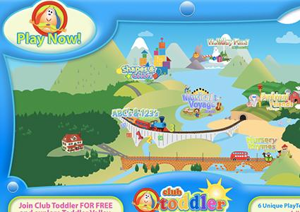 Screenshot of Club Toddler Software program by Giggles.net