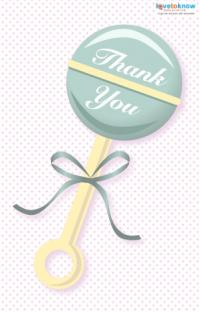 Baby shower guest thank you card