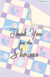 baby shower hostess thank you card