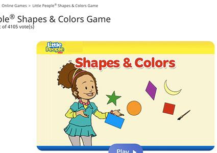 Screenshot of Shapes & Colors game